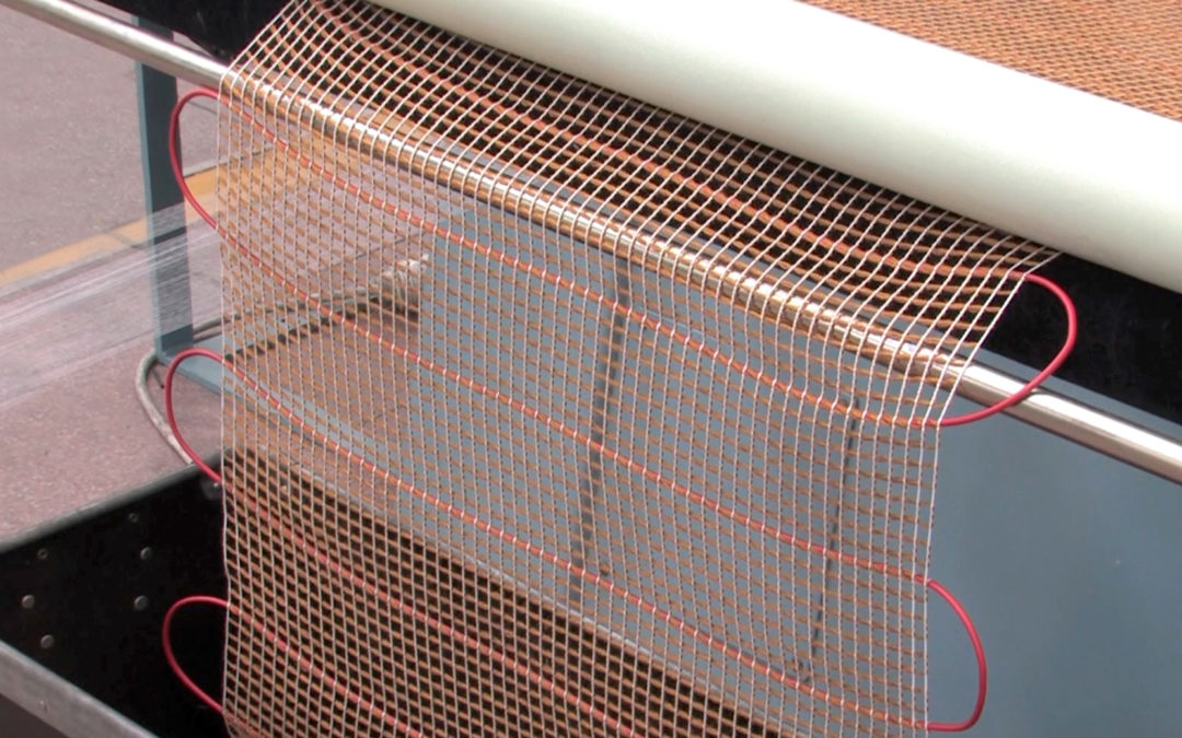 Heating mats made on crochet machines