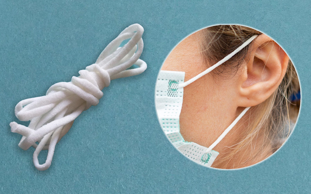 ear-loops for face masks produced on COMEZ chainette machines