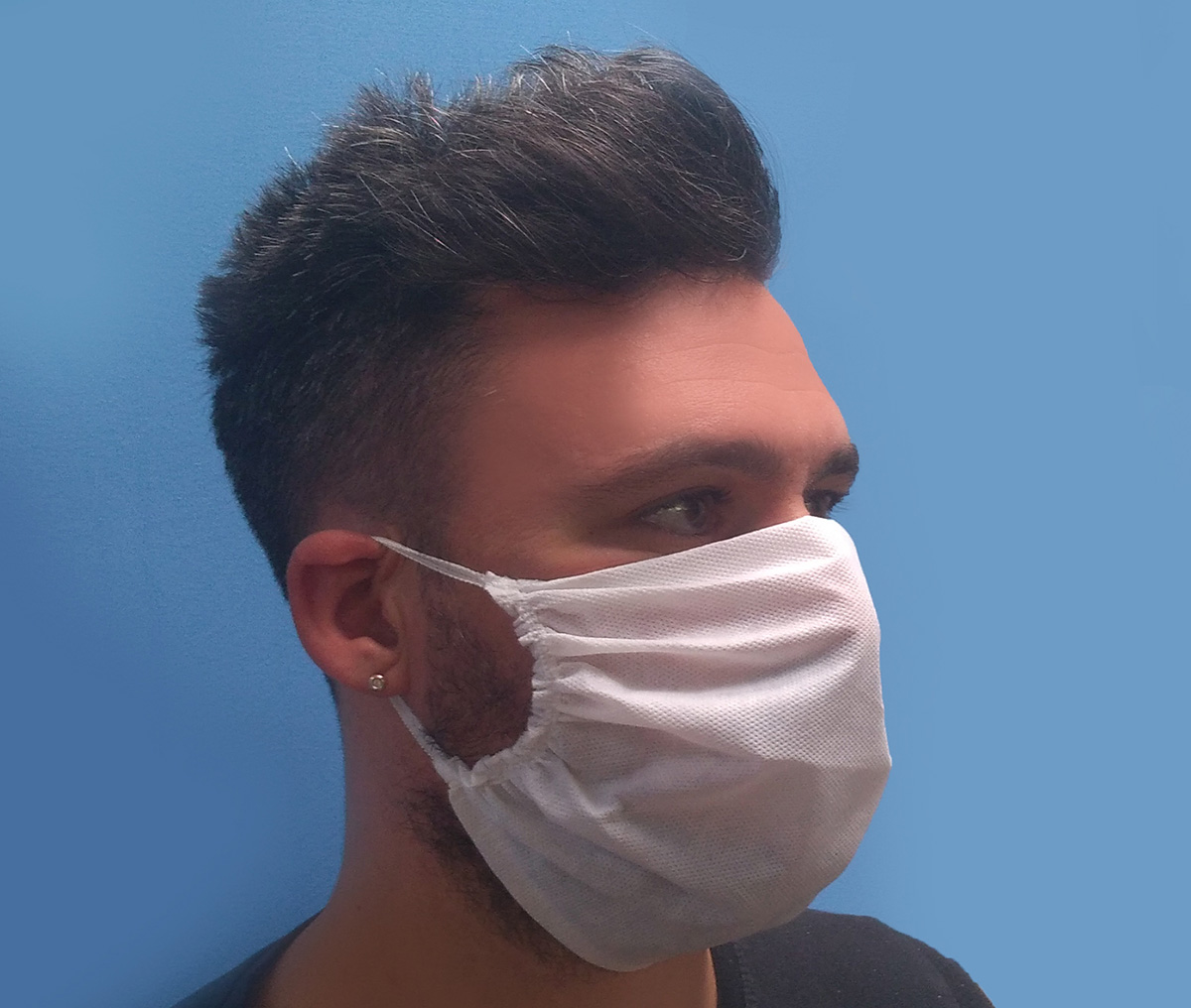 face mask made with non woven fabric on Comez machines