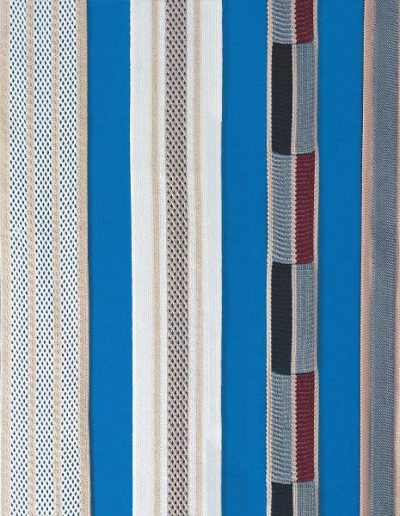 Bands produced on warp knitting machines